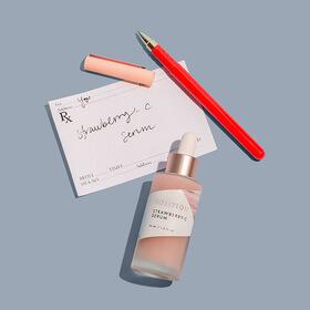 strawberry-c serum doctor prescription and pen