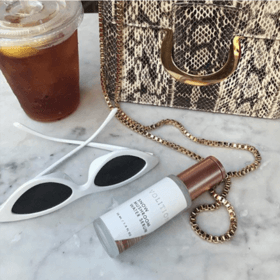 snowmushroom water serum and sunglasses