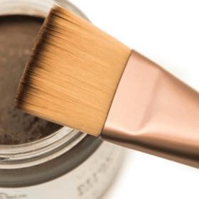 skincare paintbrush and detoxifying silt gelee