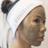 woman wearing Mask & Splash Headband and detoxifying silt gelee mask