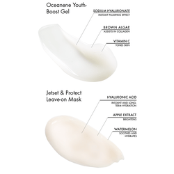 key ingredients in oceanene youth-boost gel and jetset and protect mask