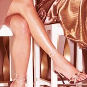 woman wearing Illuminating Body Milk on legs